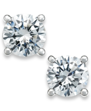 X3 Certified Diamond Stud Earrings in 18k White Gold (1 ct. t.w.)