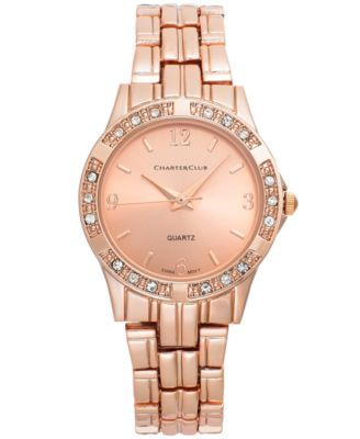 Image of Charter Club Women's Rose Gold-Tone Bracelet Watch 30mm