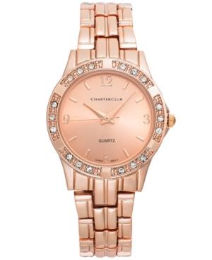 Charter Club Women's Rose Gold-Tone Bracelet Watch 30mm
