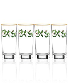 Holiday 4-piece Highball Glass Set
