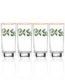 Lenox Holiday Set of 4 Highball Glasses