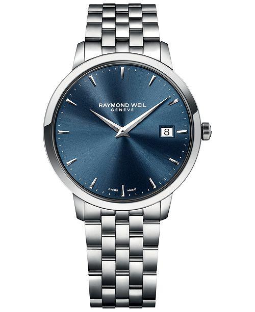 Raymond Weil Men's Swiss Toccata Stainless Steel Bracelet Watch 42mm 5588-ST-50001