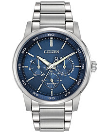 Citizen Men's Dress Eco-Drive Stainless Steel Bracelet Watch 44mm BU2010-57L