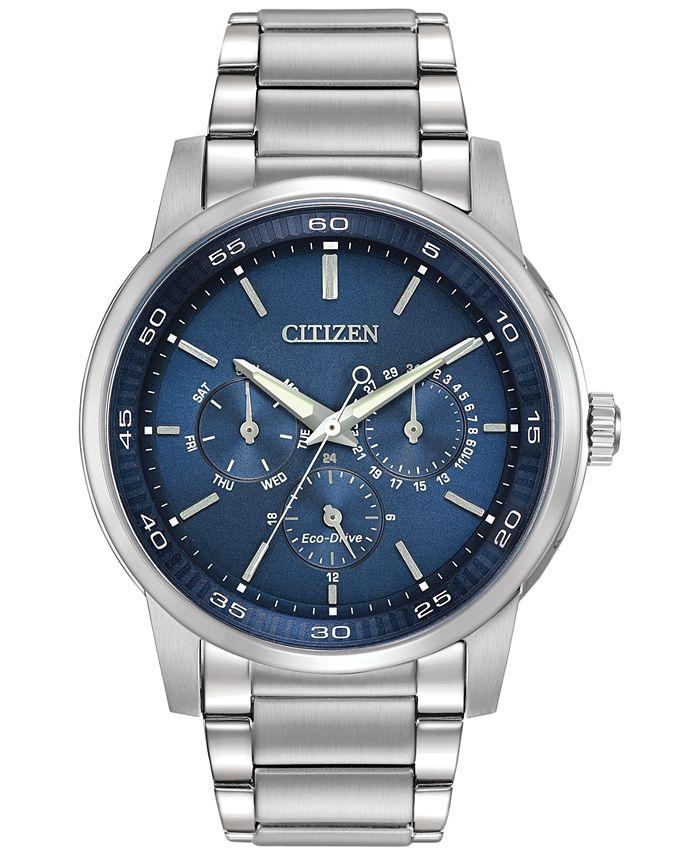Citizen - Men's Dress Eco-Drive Stainless Steel Bracelet Watch 44mm BU2010-57L