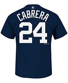 Majestic Men's Miguel Cabrera Detroit Tigers Official Player T-Shirt