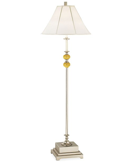 Pacific Coast CLOSEOUT! Brushed Nickel and Crackle Resin Floor Lamp
