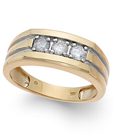 Men's Diamond (1/2 ct. t.w.) Ring in 10k Gold
