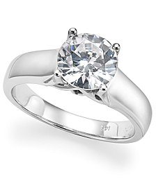 Diamond Solitaire Engagement Ring in 14k White Gold (1-3/4 ct. t.w.)