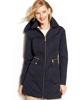 Womens Hooded Rain Coat - JacketIn