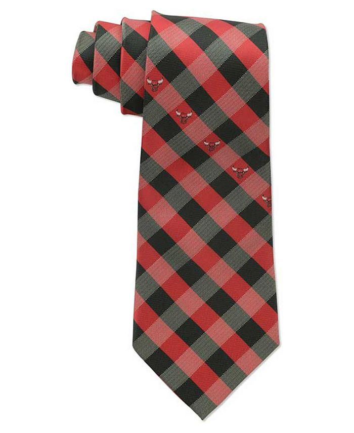 Eagles Wings - Chicago Bulls Checked Tie
