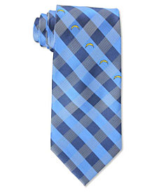 Eagles Wings Los Angeles Chargers Checked Tie