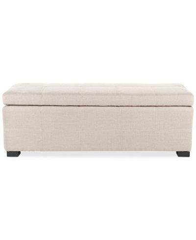 Aurora Fabric Storage Bench, Quick Ship