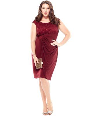 Faux wrap plus size dresses