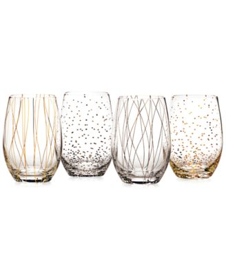 Cheers Party Stemless Wine Glasses, Set of 4 - A Macy's Exclusive