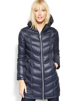 Calvin Klein Quilted Down Packable Puffer Coat - Coats