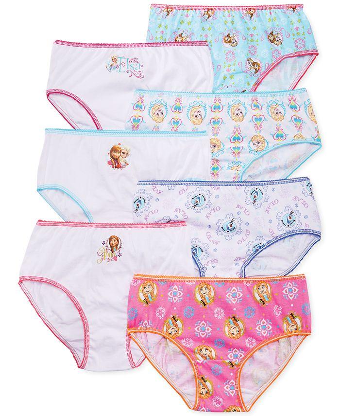 Disney - Girls' or Little Girls' 7-Pack Underwear
