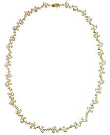 Cubic Zirconia Multi-Shape Necklace in 18k Gold over Sterling Silver