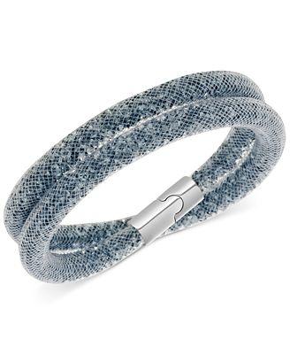 Swarovski Stardust Mesh Double Wrap Bracelet
