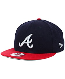 Atlanta Braves MLB 2 Tone Link 9FIFTY Snapback Cap