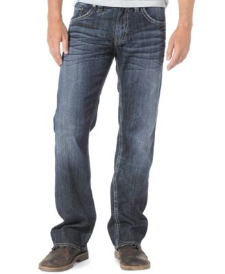 Mens Zac Relaxed Fit Straight Leg Jeans Silver Jeans Co