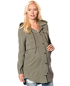 French Connection Maternity Zip-Up Twill Anorak