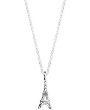 Unwritten Eiffel Tower Mini Pendant Necklace in Sterling Silver