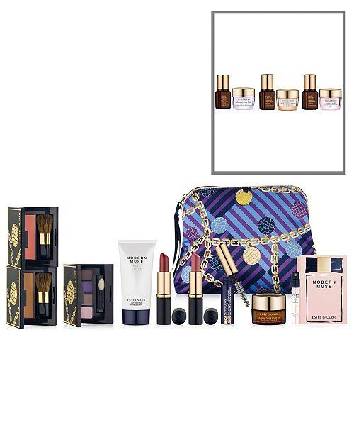 Estee Lauder Choose a FREE 8-Pc. Gift with any Estée Lauder skin care purchase + GET MORE with $70 Estée Lauder purchase