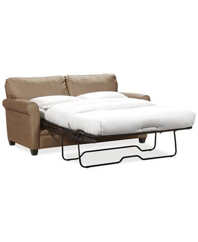 Kaleigh Fabric Full Sleeper Sofa Bed Furniture Macys - Sofa bed chairs