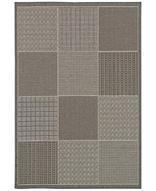 "Couristan Indoor/Outdoor Runner Rug, Monaco 2469/2213 Vistimar Grey 2'3"" x 11'9"""