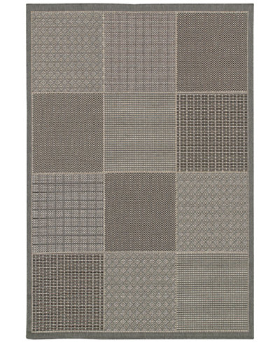 Couristan Indoor/Outdoor Area Rug, Monaco 2469/2213 Vistimar Grey 8'6