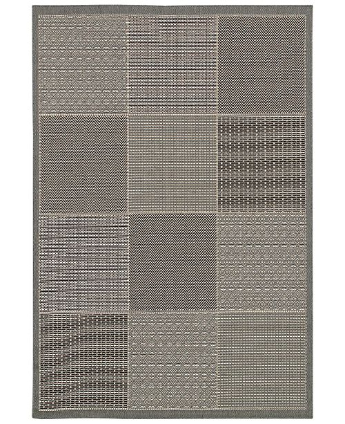 Couristan CLOSEOUT! Indoor/Outdoor Area Rug, Monaco 2469/2213 Vistimar Grey 2' x 3'7""