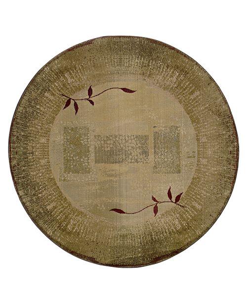 Oriental Weavers Area Rug, Generations Shadow Vine 544G 6' Round