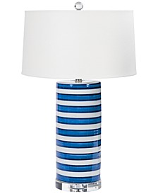Regina Andrew Design Ceramic Striped Column Table Lamp