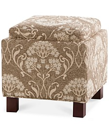 Lowland Fabric Accent Storage Ottoman with Pillows