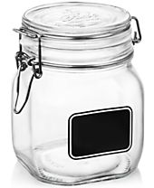 Bormioli Rocco Fido Chalk Label Medium Jar, 25.25 oz.