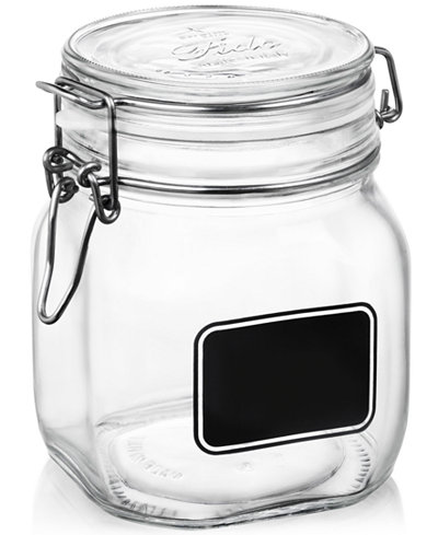 Bormioli Rocco Fido Chalk Label Medium Jar, 25.25 oz.