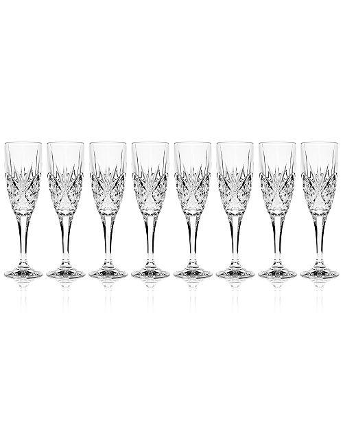 Godinger Dublin Champagne Flutes, Set of 8