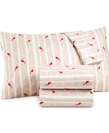 Micro Flannel Printed California King 4-pc Sheet Set