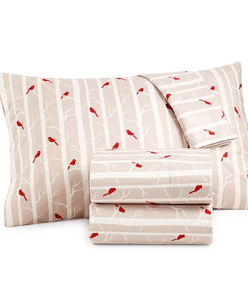 Shavel Micro Flannel Printed Full 4-pc Sheet Set