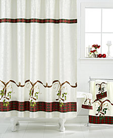"CLOSEOUT! Lenox ""Holiday Nouveau"" Shower Curtain"