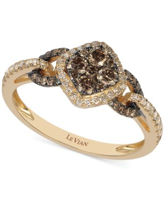 Le Vian Chocolate and White Diamond Ring in 14k Rose Gold (5/8 ct