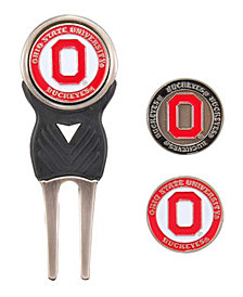 Team Golf Ohio State Buckeyes Divot Tool and Markers Set
