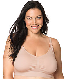 Motherhood Maternity Plus Size Seamless Full-Coverage Clip-Down Nursing Bra