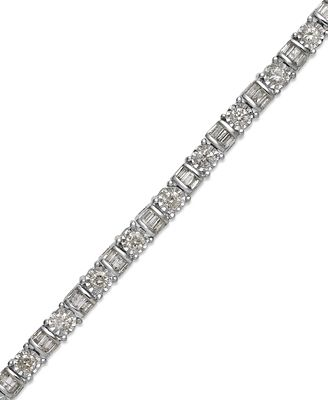 Diamond Bracelet in 14k White Gold 2 ct t w Bracelets