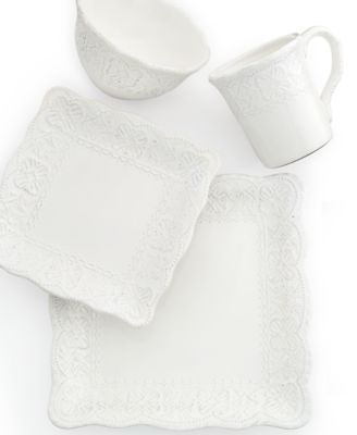 Blanc Elisabeth Square 4-Piece Place Setting