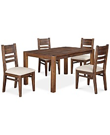 "Avondale 5-Pc. Dining Room Set, Created for Macy's,  (60"" Dining Table & 4 Side Chairs)"