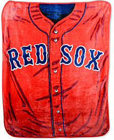 Northwest Company Boston Red Sox Plush Jersey Throw Blanket