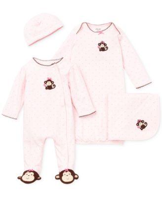 Baby Girls Pretty Monkey Blanket