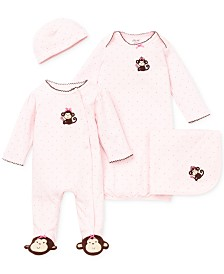 Little Me Baby Girls Pretty Monkey Bundle