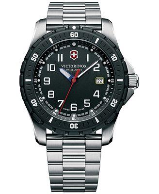 Victorinox Swiss Army Men's Maverick Sport Stainless Steel Bracelet Watch 43mm 241675